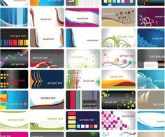 Resumen de vectores de tarjetas de visita