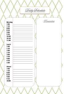 Blog Planner Daily Schedule