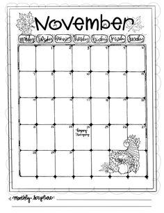 Journaling Calendar/NOV/ Sue Carroll/ png