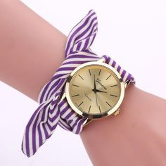 Relogio Feminino 2017 Clock Women Watch Fabric Strap Fashion Casual Watches Ladies Bracelet Watch Quartz Wristwatches #63