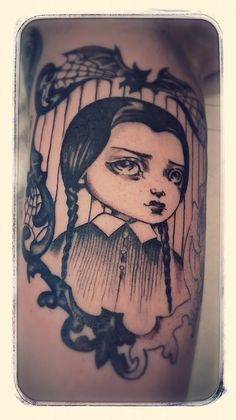 addams family wednesday tattoo - Google Search