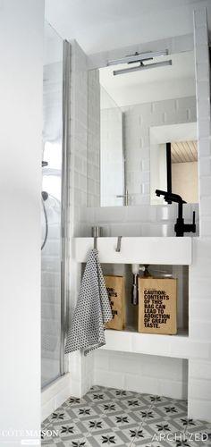 Mini salle d'eau restructurée, Nice, archi'zed - décorateur d'intérieur