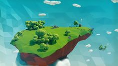 Image result for floating island low poly