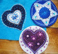 Tutorial for making appliquéd wool ornaments Christine Baker - Fairfield Road Designs & Christine's Thrive Life