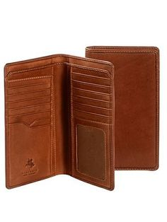 09c03af5512bb Visconti VICENZA VCN-20 Leather BIFOLD Tall Slim ID WALLET   Checkbook…