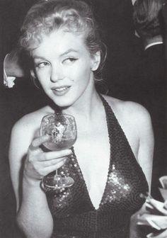 """Marilyn Monroe at the """"April in Paris"""" Ball, April 11,1957."""