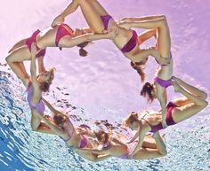 Synchronized swimmers, loved watching them on tv but every time I watch they were black and white never in color