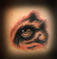 Tattoos - Full color tiger's eye