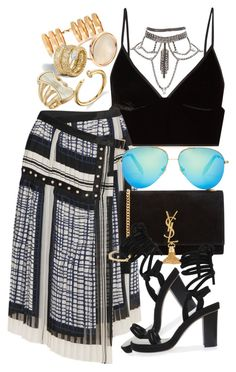 """""""Isabel Marant x VB"""" by muddychip-797 ❤ liked on Polyvore featuring Repossi, T By Alexander Wang, Ginette NY, Sacai, Victoria Beckham, Yves Saint Laurent, Isabel Marant, Robert Lee Morris, vacation and saintlaurent"""