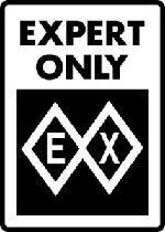 Ski Snowboard Sign EX EXPERT DOUBLE BLACK DIAMOND warning run slope sign