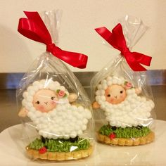 3D Sheep cookies for a little girl