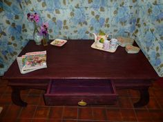 Hand made coffee table from reclaimed wood