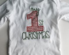 SALE 40% OFF-My First Christmas Baby Girl Christmas Outfit; Babies First Christmas Outfit; 1st Christmas