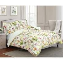 Royal Heritage Home Williamsburg Abby Ivory/White/Green Standard Cotton Reversible Traditional 4 Piece Comforter Set & Reviews | Wayfair Queen Comforter Sets, Duvet Sets, First Apartment, White Plaid, Comforters, Floral Prints, College Dorms, Garden Oasis, Master Bedrooms