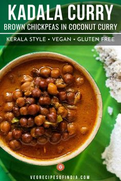 Kadala curry recipe with step by step photos. Kadala curry or kadala kari with puttu is one of my favorite breakfast. Easy Vegetarian Curry, South Indian Vegetarian Recipes, Veg Recipes Of India, South Indian Food, Indian Food Recipes, Vegan Curry, Chickpea Recipes, Lentil Recipes, Curry Recipes