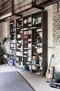 modular furniture I shelf I interior I home I living I design I inspiration I decoration I books I guitar I System 180 - Made in Berlin