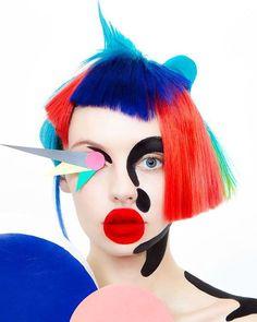 Graphics on Behance Direction&Hair / Hidekazu Nagata(underground) Photo / Munenari Maegawa Styling / Chihiro Yono Make / Su-Su Makeup Inspo, Makeup Inspiration, Beauty Makeup, Hair Makeup, Hair Beauty, Make Up Art, Hair Shows, Creative Hairstyles, Hair Art