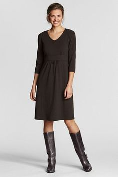 Cotton Modal Empire Dress.  Cute with a belt too. Land's End $69.50
