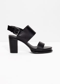 & Other Stories image 1 of Buckled Leather Sandals in Black