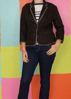 À vendre sur #vintedfrance ! http://www.vinted.fr/mode-femmes/blazers/29641382-veste-blazers-marron-lin-t42-autre-ton-demi-saison-chicclassebureauwokingirl