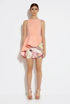 Like the asymmetry, peplum shape, colors, print, and combo or print and solid.