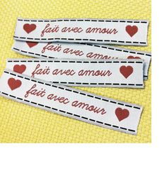 """Made with love"" labels"