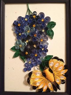 Quilled Lavender and Butterfly by jgaCreations on Etsy, $25.00