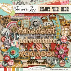 ENJOY THE RIDE Digital Scrapbooking Page Kit