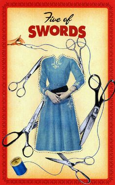 Five of Swords, The Housewives Tarot - how does this relate to the meaning of the card?