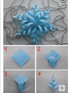 Christmas Trees For Kids, Christmas Crafts For Kids, Christmas Fun, Bows For Presents, Diy Paper, Paper Crafts, Snowflake Craft, Giant Paper Flowers, Paper Stars
