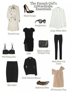 Travel light :: The French girl's 12 wardrobe essentials Style Work, Style Français, Mode Style, French Minimalist Wardrobe, French Wardrobe Basics, French Basics, French Capsule Wardrobe, Minimalist Clothing, Minimalist Style