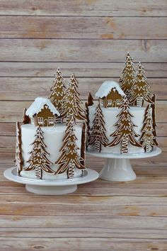 Gingerbread Forest House Christmas Cake from Blossom Tree Cake Co Harrogate North . - Gingerbread Forest House Christmas Cake from Blossom Tree Cake Co Harrogate North … - Christmas Cake Decorations, Christmas Sweets, Christmas Cooking, Holiday Cakes, Christmas Goodies, Holiday Treats, Christmas Cakes, Xmas Cakes, Christmas Cake Designs