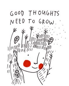 Good thoughts need to grow Art Print by Saskia Keultjes | Society6