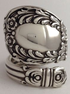 Size 8 Vintage Sterling Silver  Spoon Ring on Etsy, $94.99
