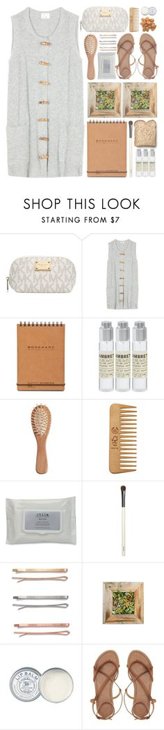 """""""Earth Tones"""" by kearalachelle ❤ liked on Polyvore featuring Michael Kors, Acne Studios, Toast, Le Labo, The Unbranded Brand, The Body Shop, Stila, Chantecaille, Madewell and Jack Wills"""