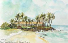 Guest Doodlewash – Beach House Restaurant by Carol Jurczak Watercolor Artists, Watercolor Illustration, Watercolor Paintings, Watercolour, Beach House Restaurant, Never Too Old, Art Courses, Urban Sketchers, Art Drawings Sketches