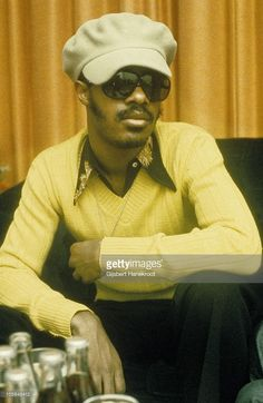 A portrait of Stevie Wonder backstage at the Rainbow Theatre on 30th January 1974 in London.