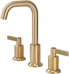 Brass Faucets (Bathroom + Kitchen) — Light & Dwell Brass Bathroom, Brass Faucet, Widespread Bathroom Faucet, Bathroom Hardware, Bathroom Sink Faucets, Diy Bathroom Decor, Master Bathroom, Budget Bathroom, Basement Bathroom