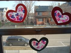 "pinterest inspired ""stained glass"" hearts"