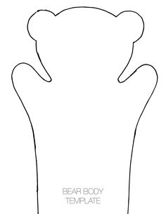 Bear Hand Puppet Template