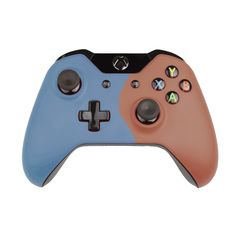 Custom Xbox One Controller  Wireless Glossy  Half-Iron Gray-And-Half-Red Orange