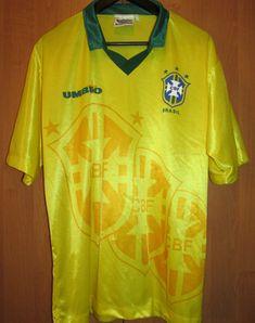 b26c24cf4 Brazil 1992 1993 home football shirt soccer jersey camiseta maglia umbro  size l