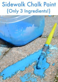 How to Make Sidewalk Chalk {only 3 ingredients!}