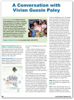 A great Early Childhood/ Kindergarten Article about Play.  I love Play Acting with children!