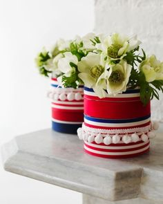 Ribbon Vase: Great recipes and more at http://www.sweetpaulmag.com !!