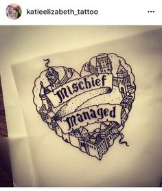 Harry Potter tattoo Mauraders map mischief managed