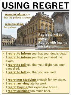 AskPaulEnglish: USING REGRET #ielts #toefl #grammar #learnenglish #tefl