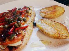 receta de pescado al horno mediterráneo