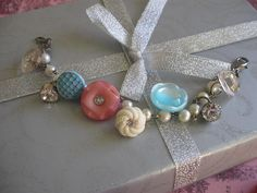 Candiesvintage assemblage old ooak button by originalnoell on Etsy, $32.00