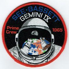 Gemini 9 original prime crew See & Bassett mission patch